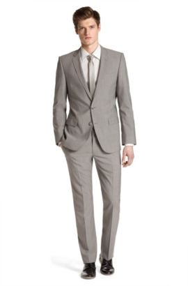 Costume de coupe Slim Fit, Aiko1/Heise, Gris