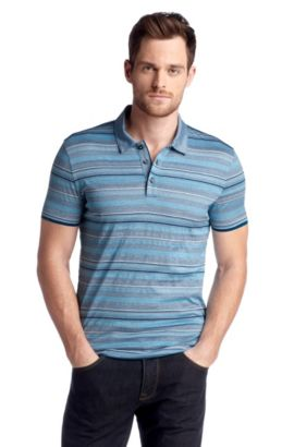 Polo Regular Fit en coton, Bugnara 18, Turquoise