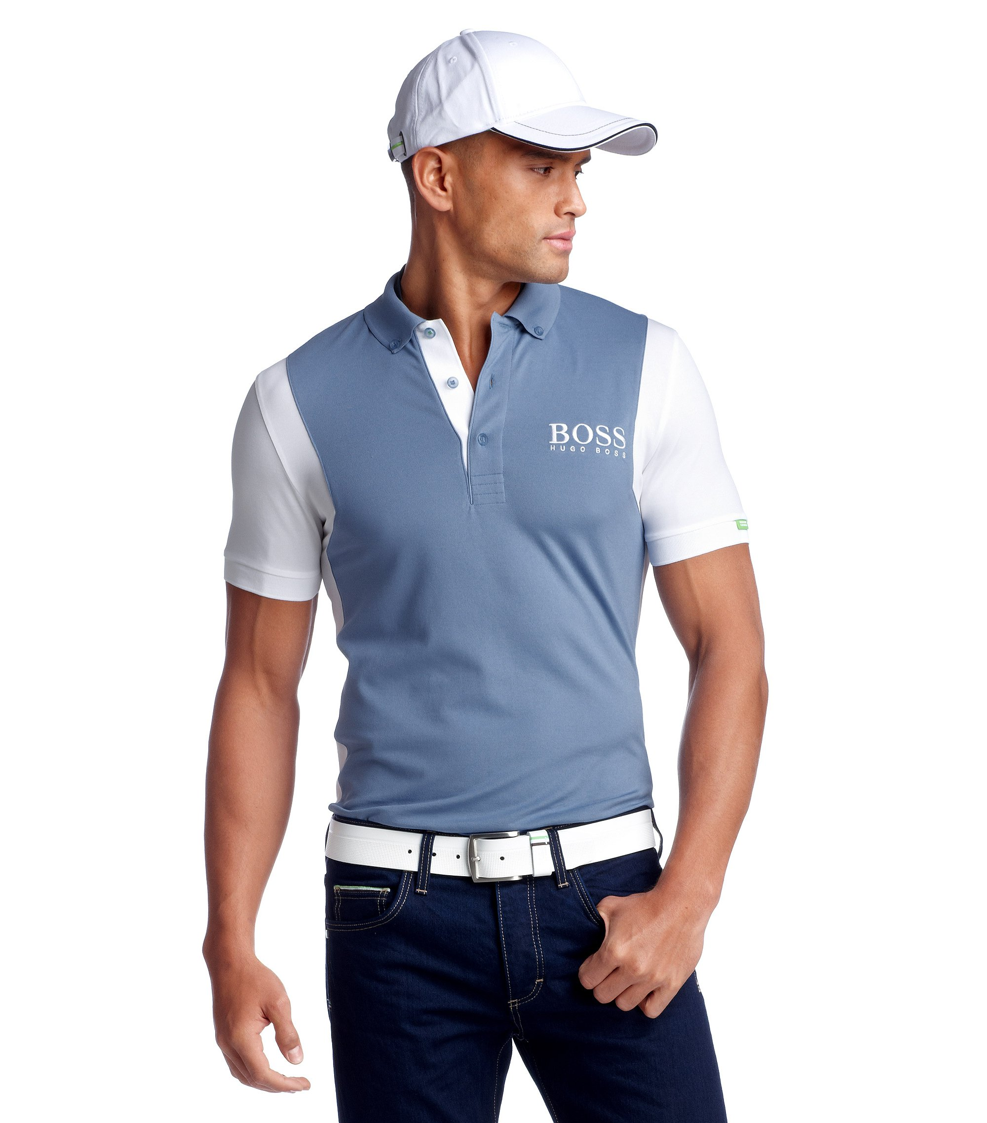Modern-Fit Piqué-Poloshirt ´Paddy MK`, Hellblau