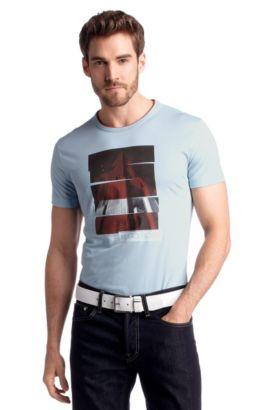 T-Shirt ´Tee 4` mit Rundhals-Ausschnitt, Hellblau