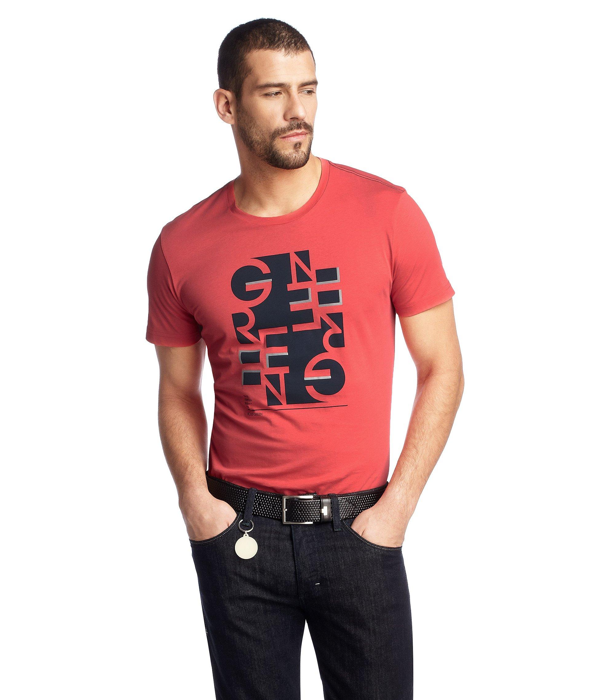 T-Shirt ´Teeo` mit Rundhals-Ausschnitt, Rot