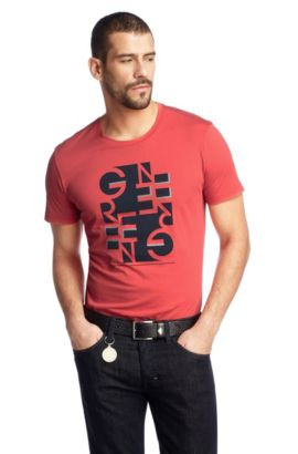 T-shirt à encolure ronde, Teeo, Rouge