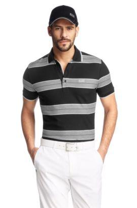 Modern-Fit Piqué-Poloshirt ´Paddy 1`, Schwarz