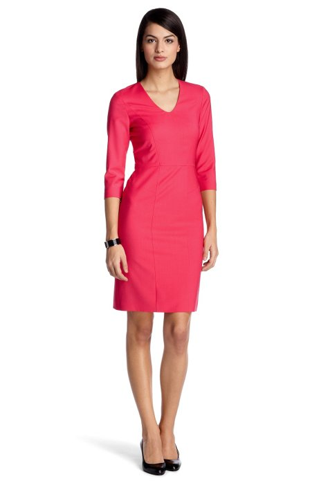 New wool business dress 'Dilonie', Open Red