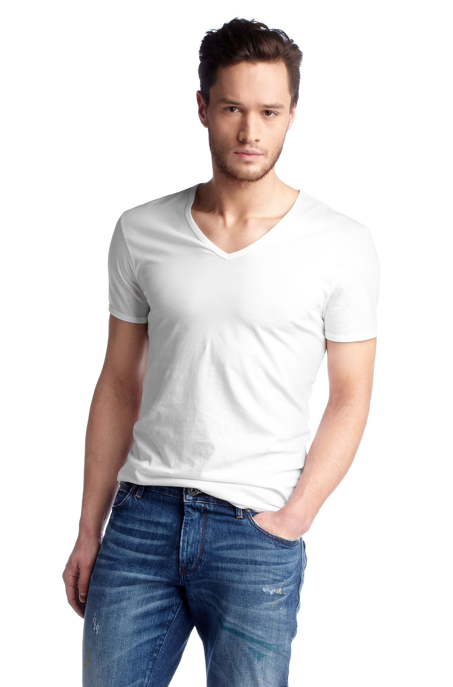 T-shirt ´Toulouse` met print in de nek
