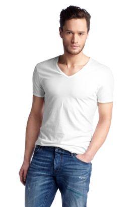 T-shirt ´Toulouse` met print in de nek, Wit