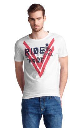 T-shirt ´Terell 2` met ronde hals, Wit