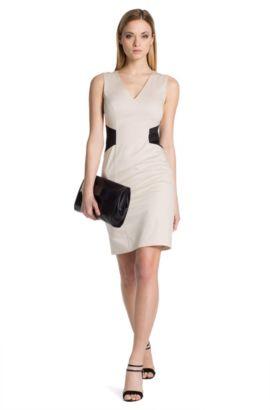 Etui-jurk ´Klanis` van een katoenmix, Lichtbeige