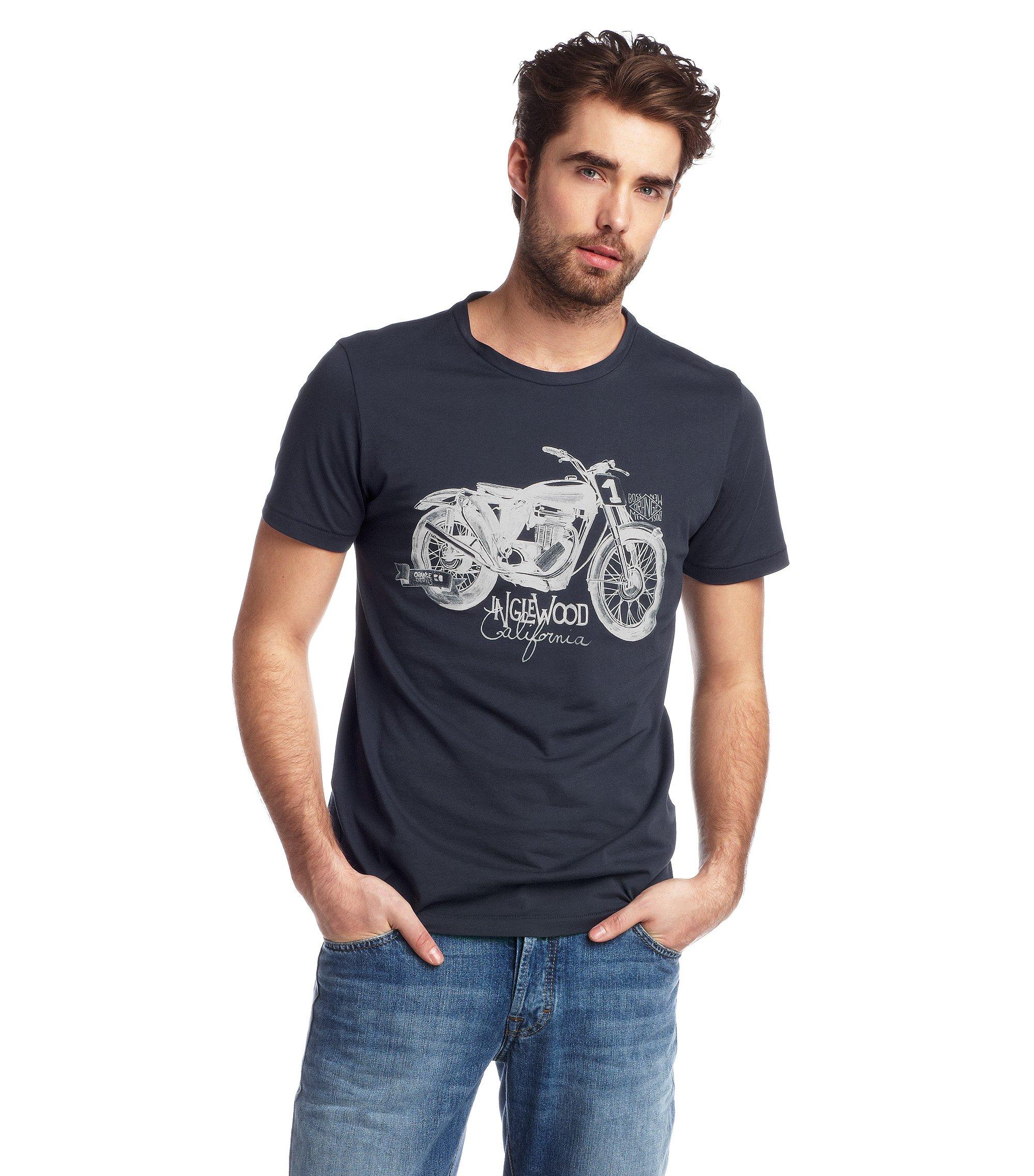T-Shirt ´Takeout 1` mit Rundhals-Ausschnitt, Dunkelblau