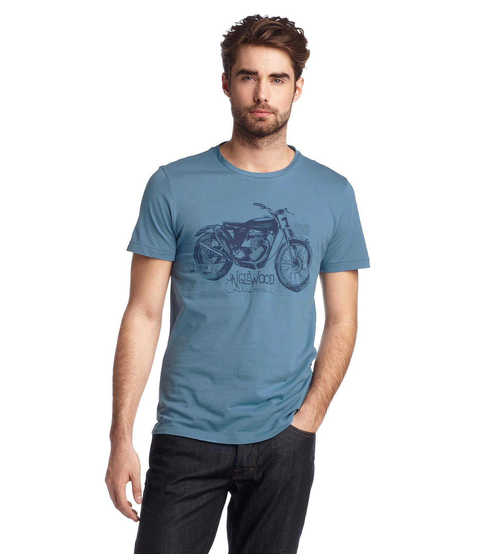 T-Shirt ´Takeout 1` mit Rundhals-Ausschnitt, Hellblau