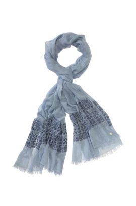 Schal ´Nirieam` aus Baumwolle, Wolle und Viskose, Türkis