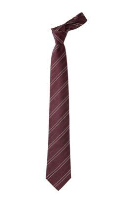 Tie with woven stripe pattern 'Tie CM 8', Rood