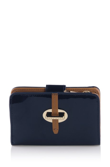 Leather wallet 'Catrina-V', Dark Blue