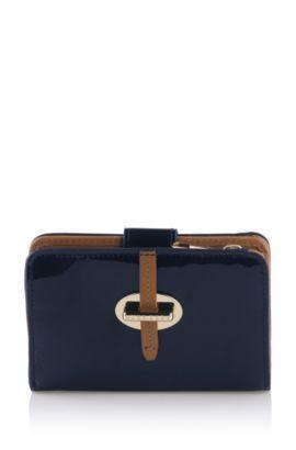 Portefeuille en cuir de vachette, Catrina-V, Bleu foncé