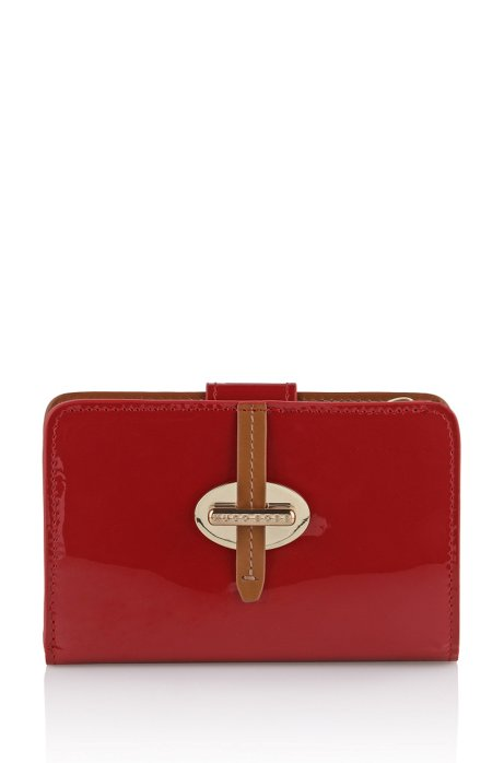 Leather wallet 'Catrina-V', Dark pink
