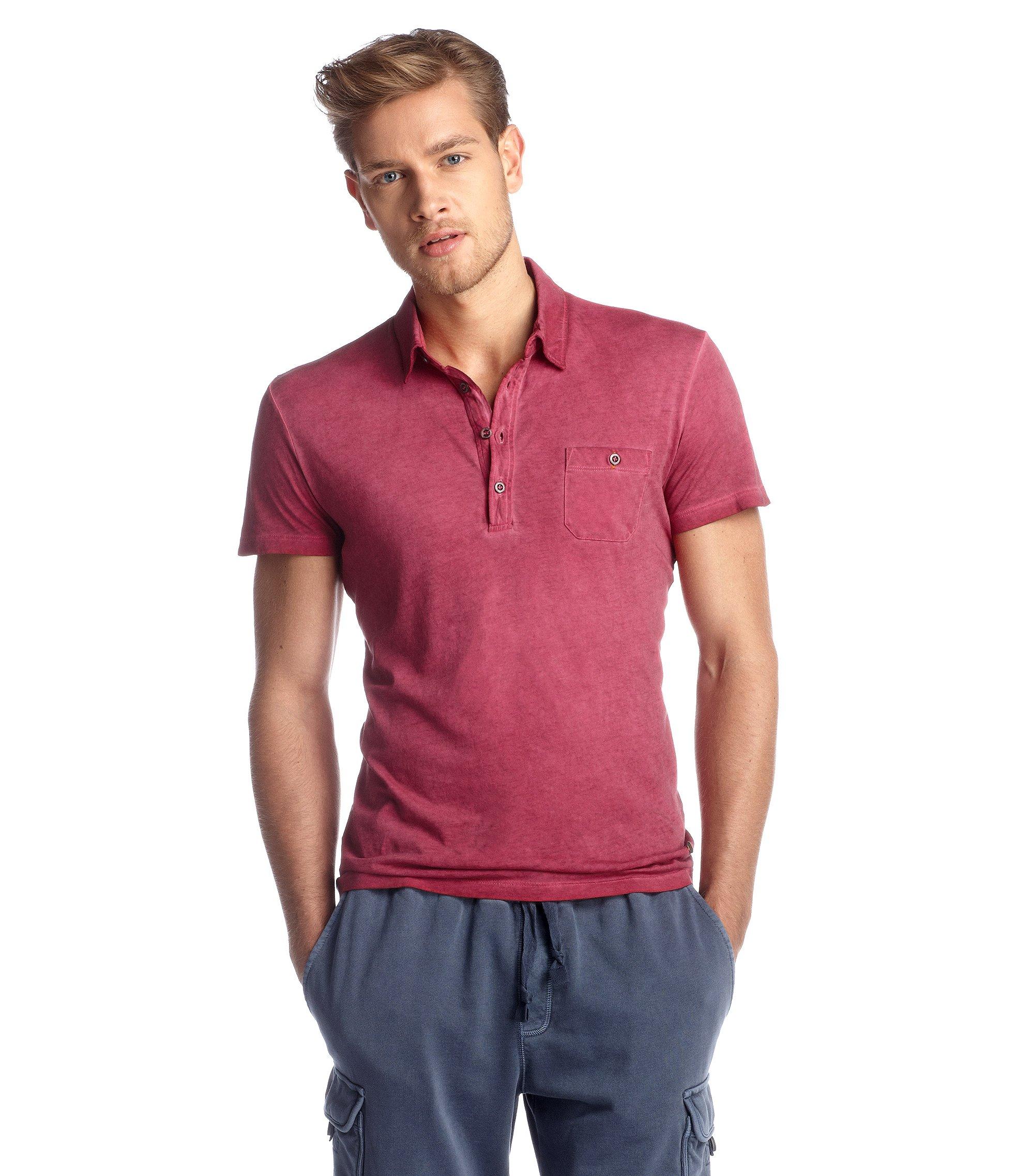 Polo ´Perpignan` aus Baumwolljersey, Pink