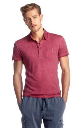 Polo en jersey de coton, Perpignan, Rose