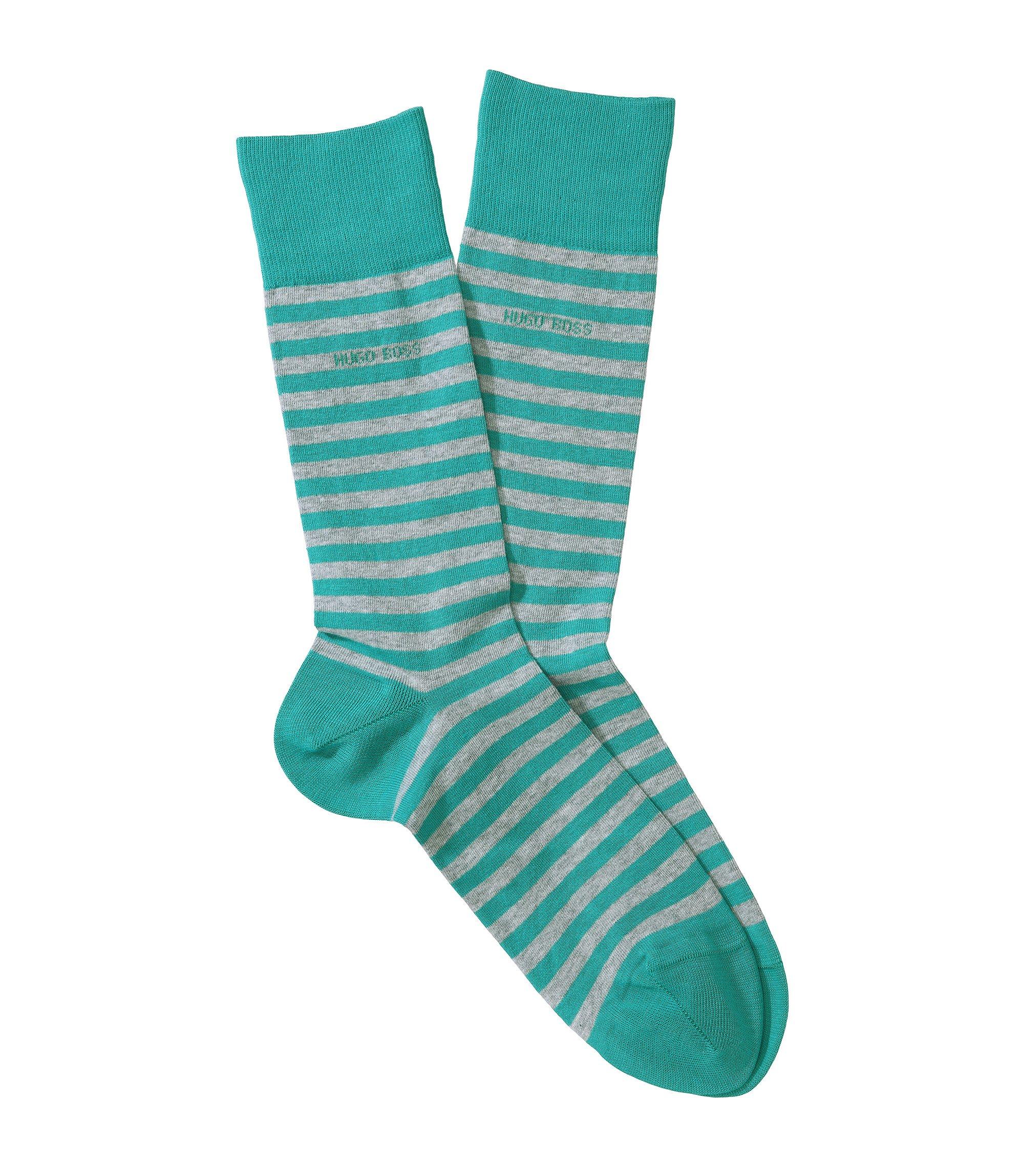 Socken ´Marc Design` mit Streifen, Türkis