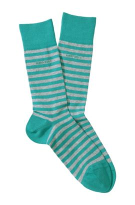 Chaussettes à rayures, Marc Design, Turquoise