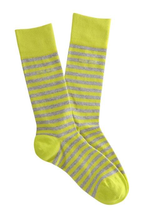 Striped socks 'Marc Design', Yellow