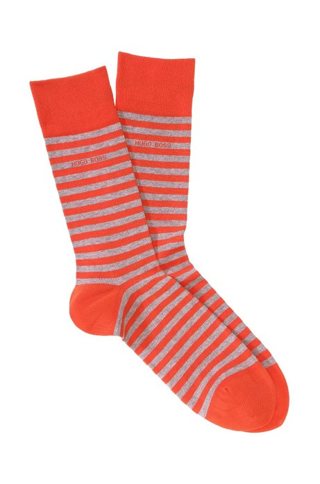 Striped socks 'Marc Design', Orange