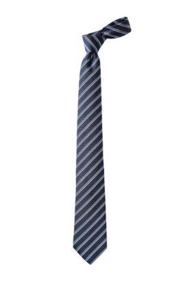 Cravate en pure soie, TIE CM 8, Bleu foncé