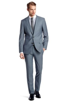 Slim-Fit Business-Anzug ´Hold1/Genius1 WE`, Blau