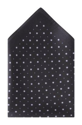 Pochet ´Pocket square 33x33` van zijde, Zwart