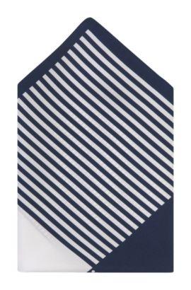 Einstecktuch ´Pocket square 33x33` aus Seide, Dunkelblau