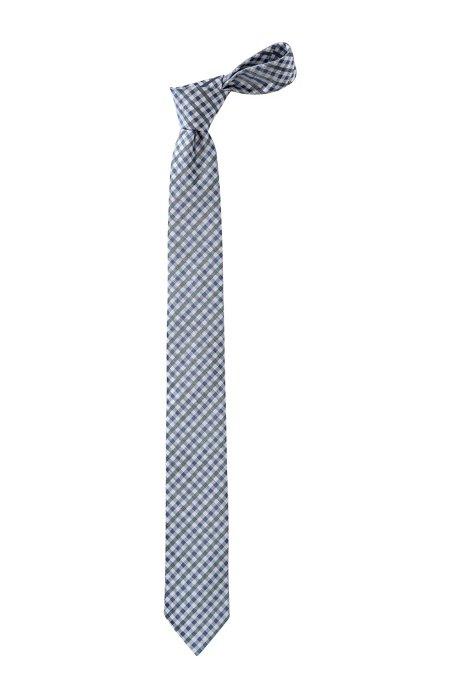 Check tie 'Tie 6 cm', Dark Blue