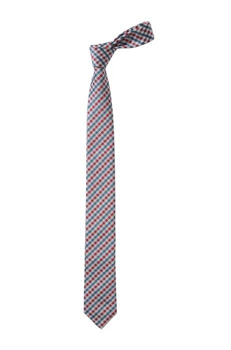 Check tie 'Tie 6 cm', Pink