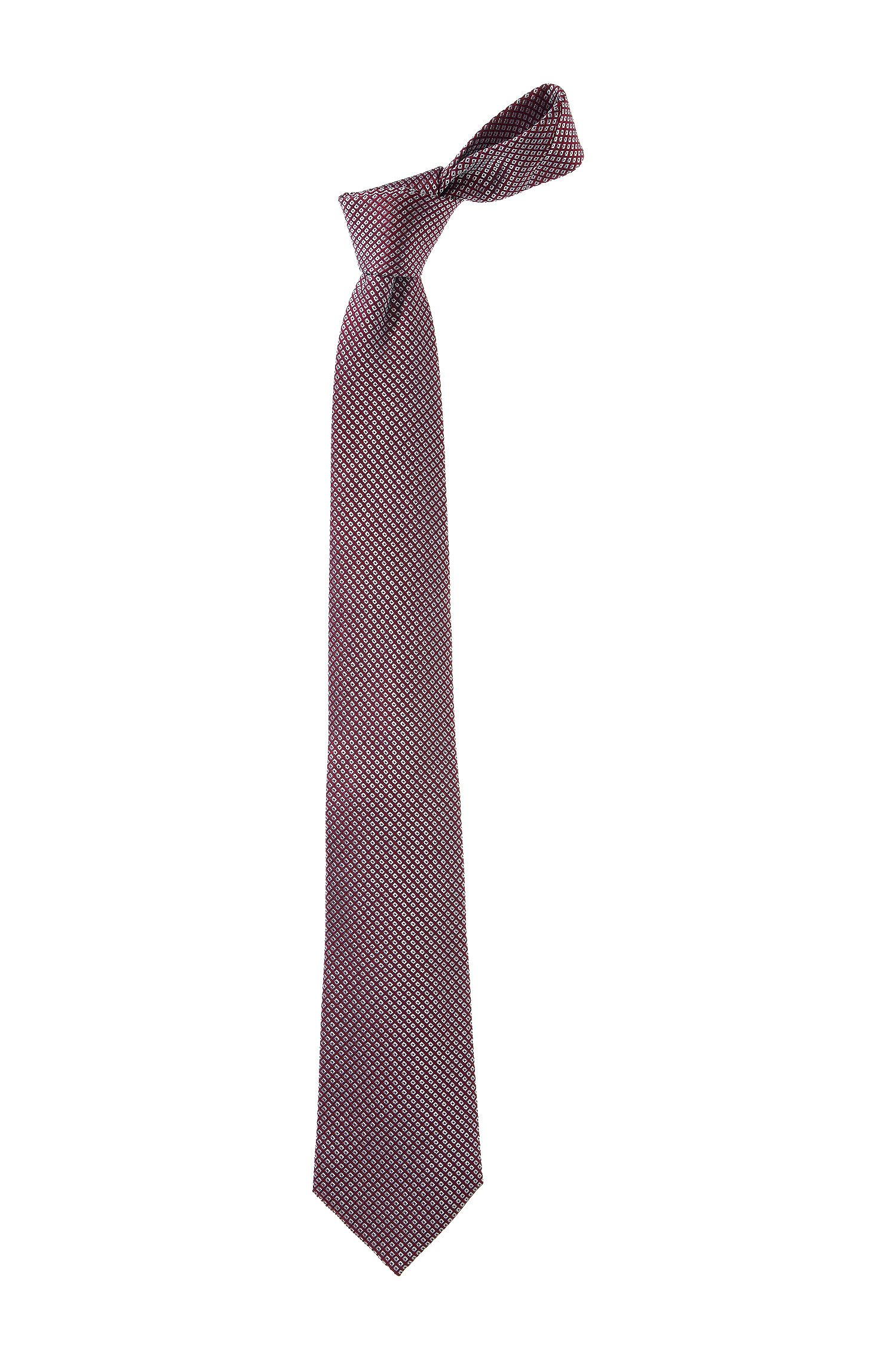 Krawatte ´TIE CM 8` mit eingewebtem Rauten-Dessi, Rot