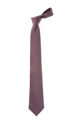 Cravate à motif à losanges tissé, TIE CM 8, Rouge