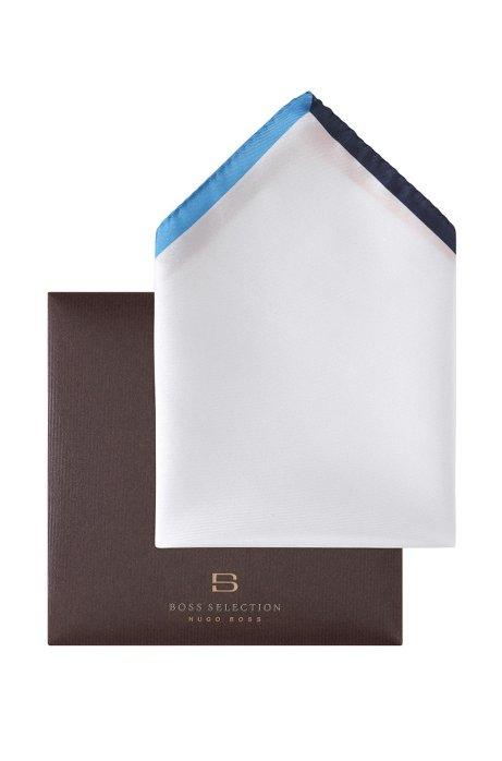 Pocket square with a border 'Pocket square 33x33, White