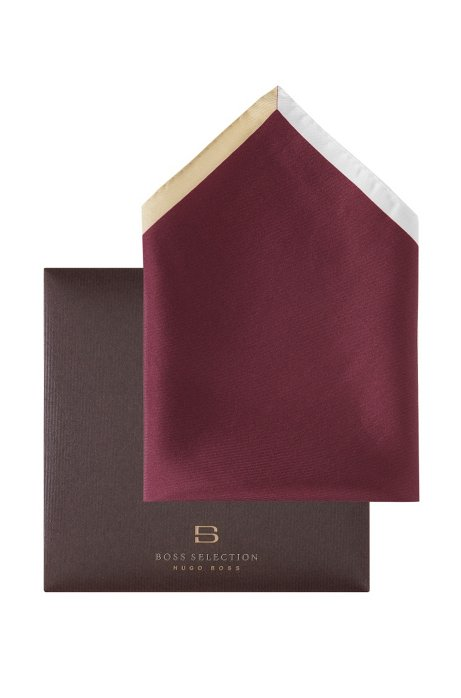 Pocket square with a border 'Pocket square 33x33, Red
