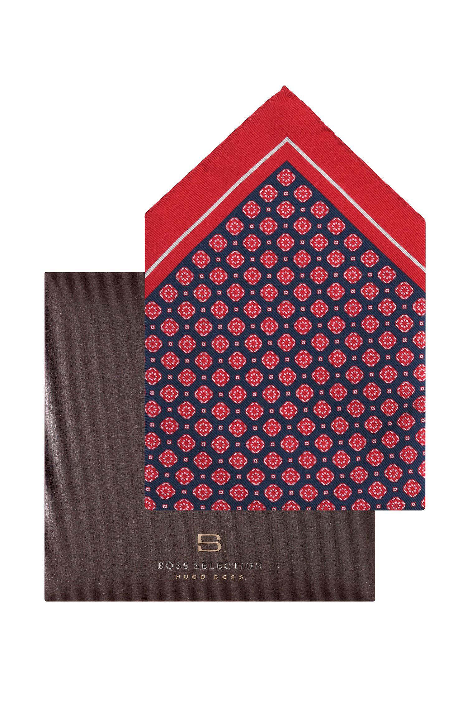 Pochette en soie et coton, Pocket square 33 x 33