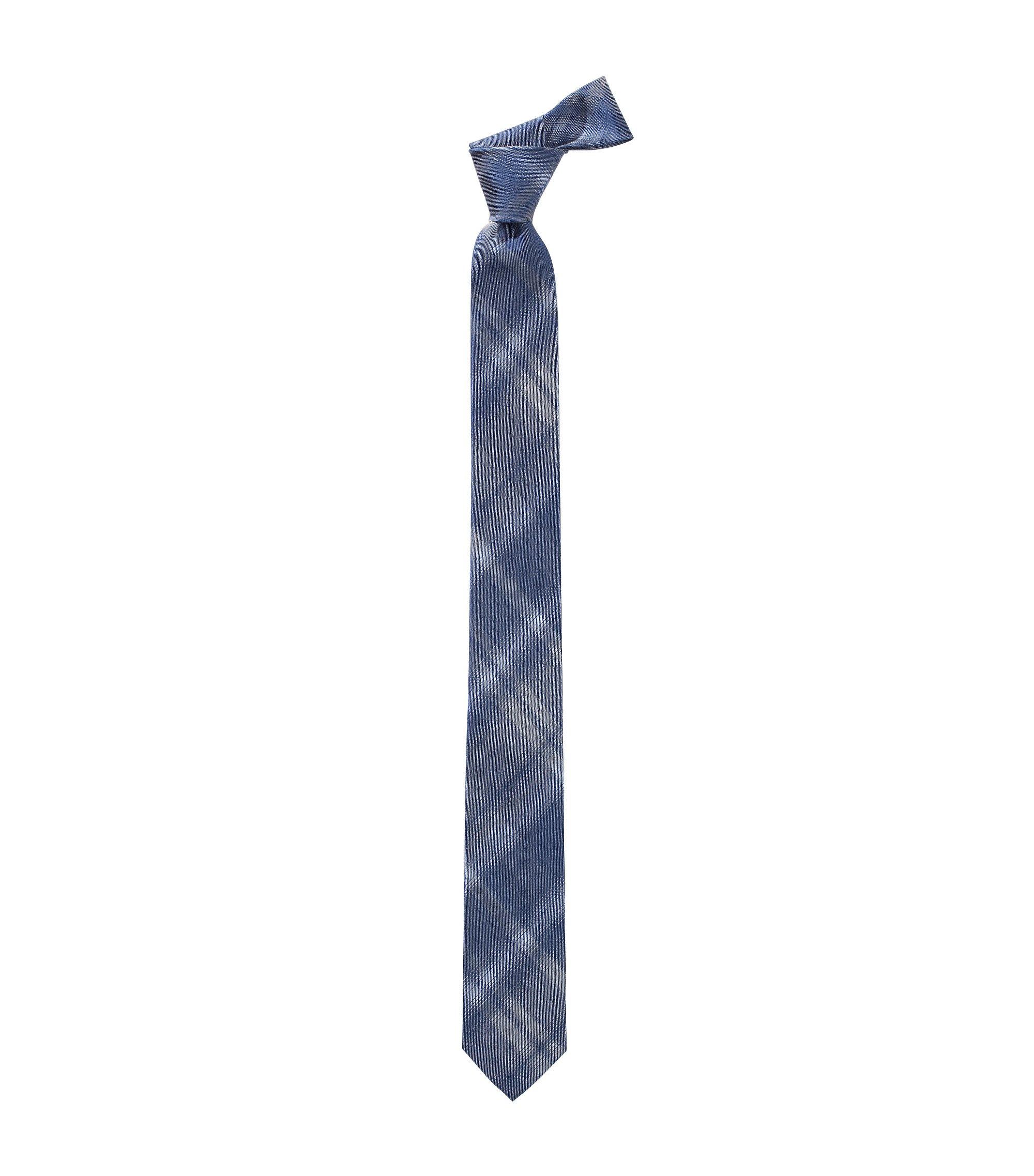 Krawatte ´Tie 6 cm` aus Seiden-Baumwoll Gemisch, Dunkelblau