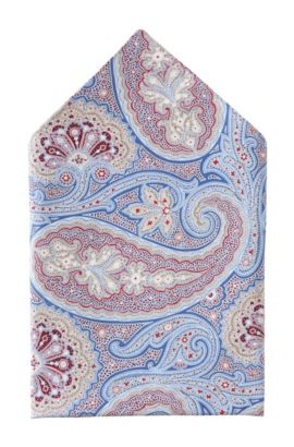 Pochette en soie, Pocket square 33x33, Bleu vif