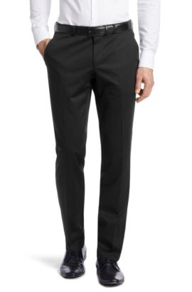 Pantalon business de coupe Regular Fit, Shark4, Noir