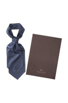 Krawatten-Plastron ´Reico` aus reiner Seide, Dunkelblau