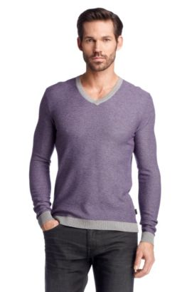 Pull en laine vierge, Guariono Modern Essential, Lilas