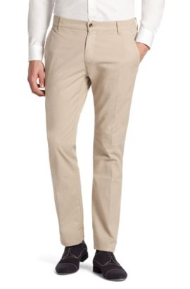 Chino ´Hugo 15` aus Baumwoll-Stretch, Beige