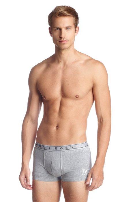 Cotton blend boxer shorts 'BOXER BM', Grey
