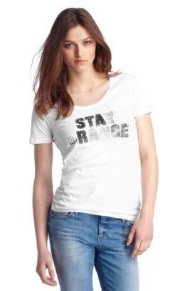T-Shirt ´Teasi` mit Rundhals-Ausschnitt, Weiß