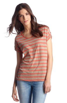 T-shirt à encolure ronde, Tirget, Brun chiné