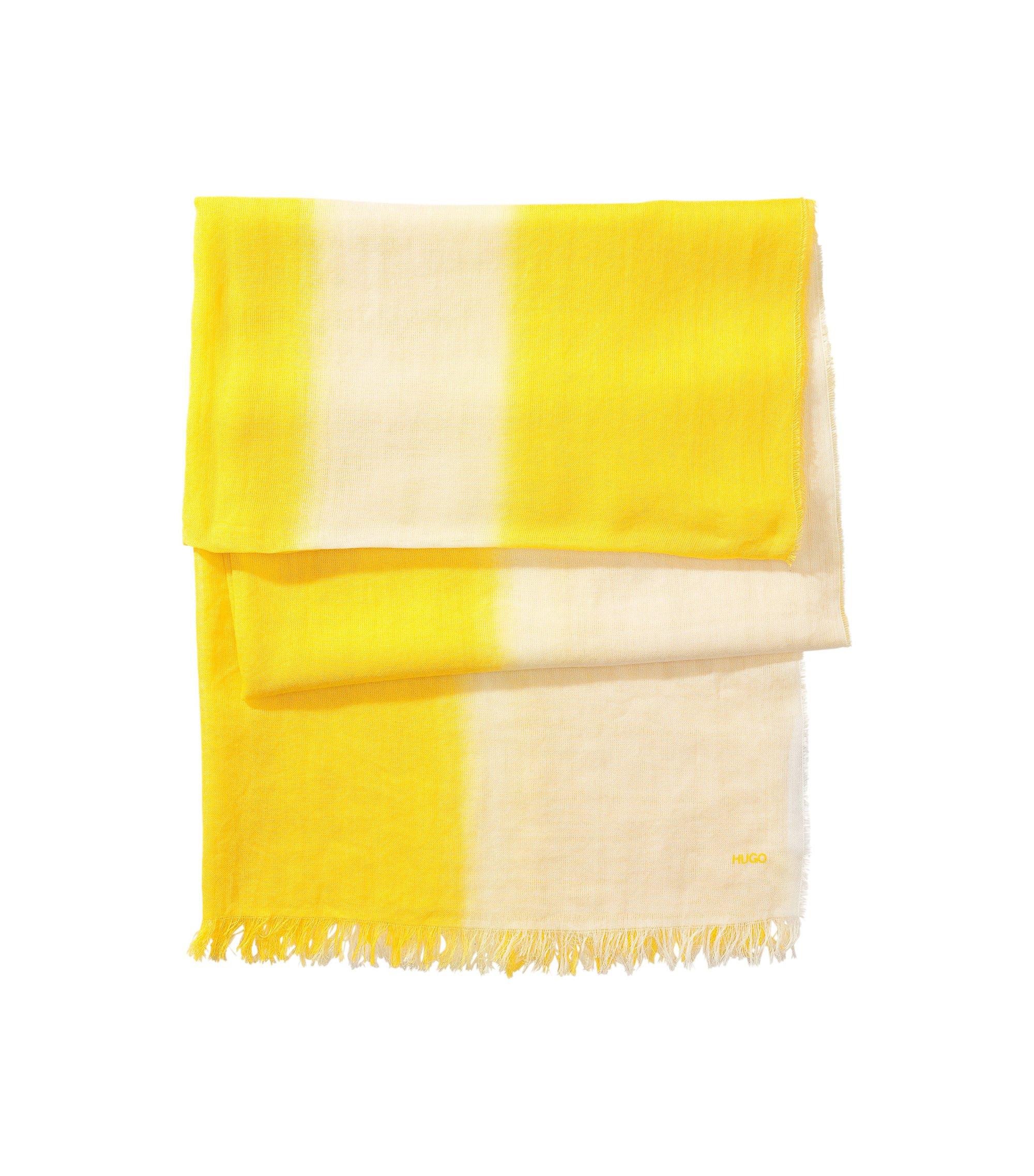 Katoenen sjaal ´Women-Z 416` van HUGO, Geel