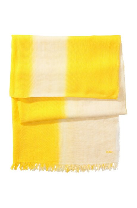 Cotton scarf from HUGO 'Women-Z 416', Yellow