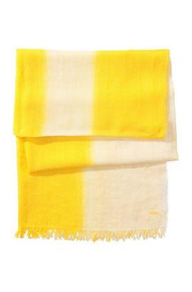 Schal ´Women-Z 416` aus Baumwolle, Gelb