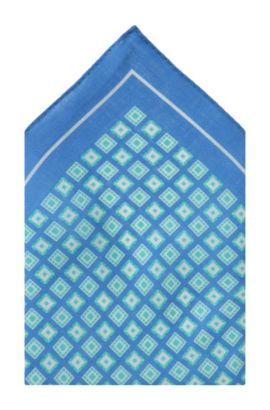 Pochet ´Pocket square 33x33` van linnen, Blauw