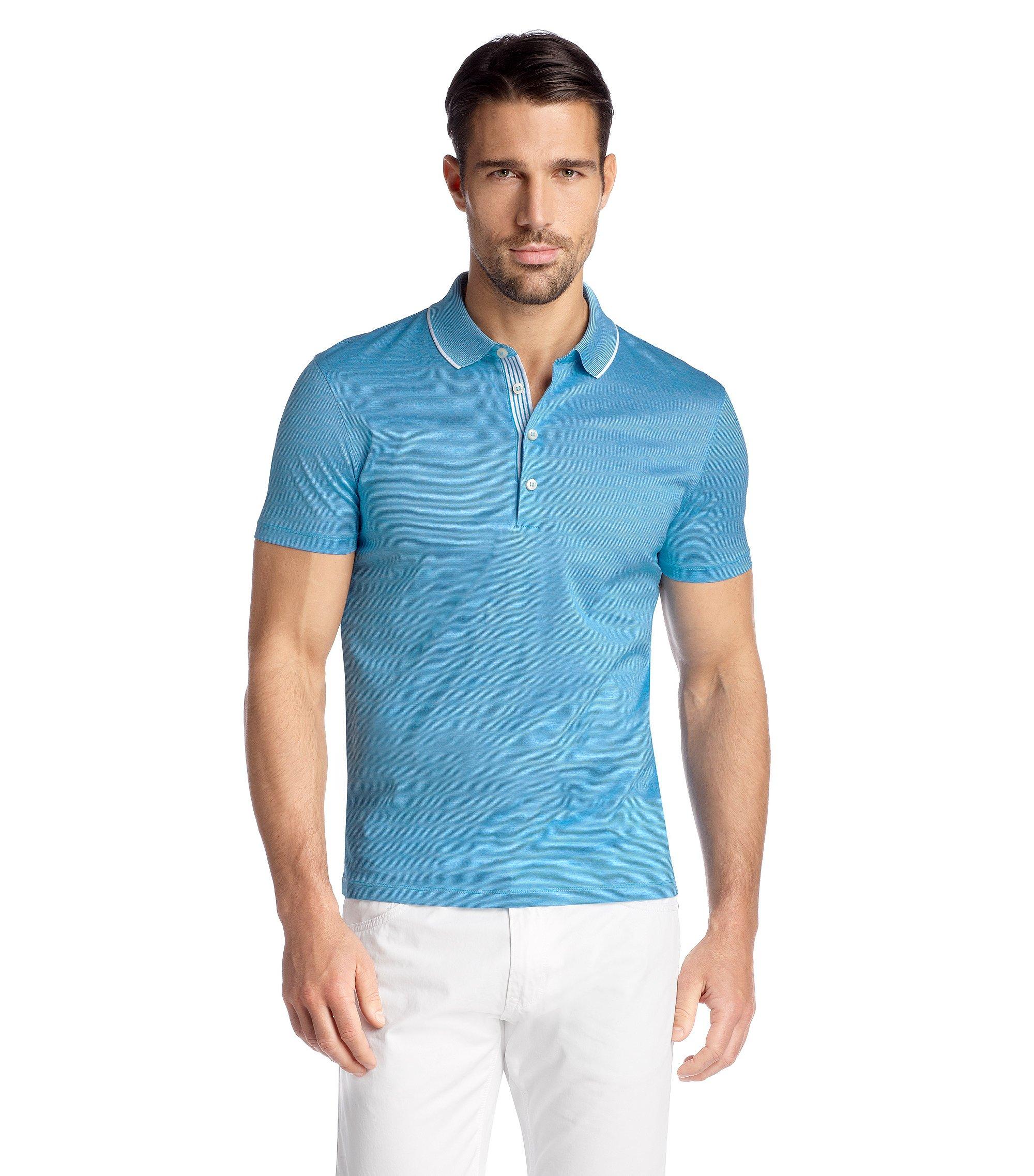 Regular Fit cotton polo shirt 'Bugnara 20', Light Blue
